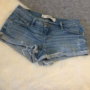 Abercrombie & Fitch denim cut off cuffed shorts 27